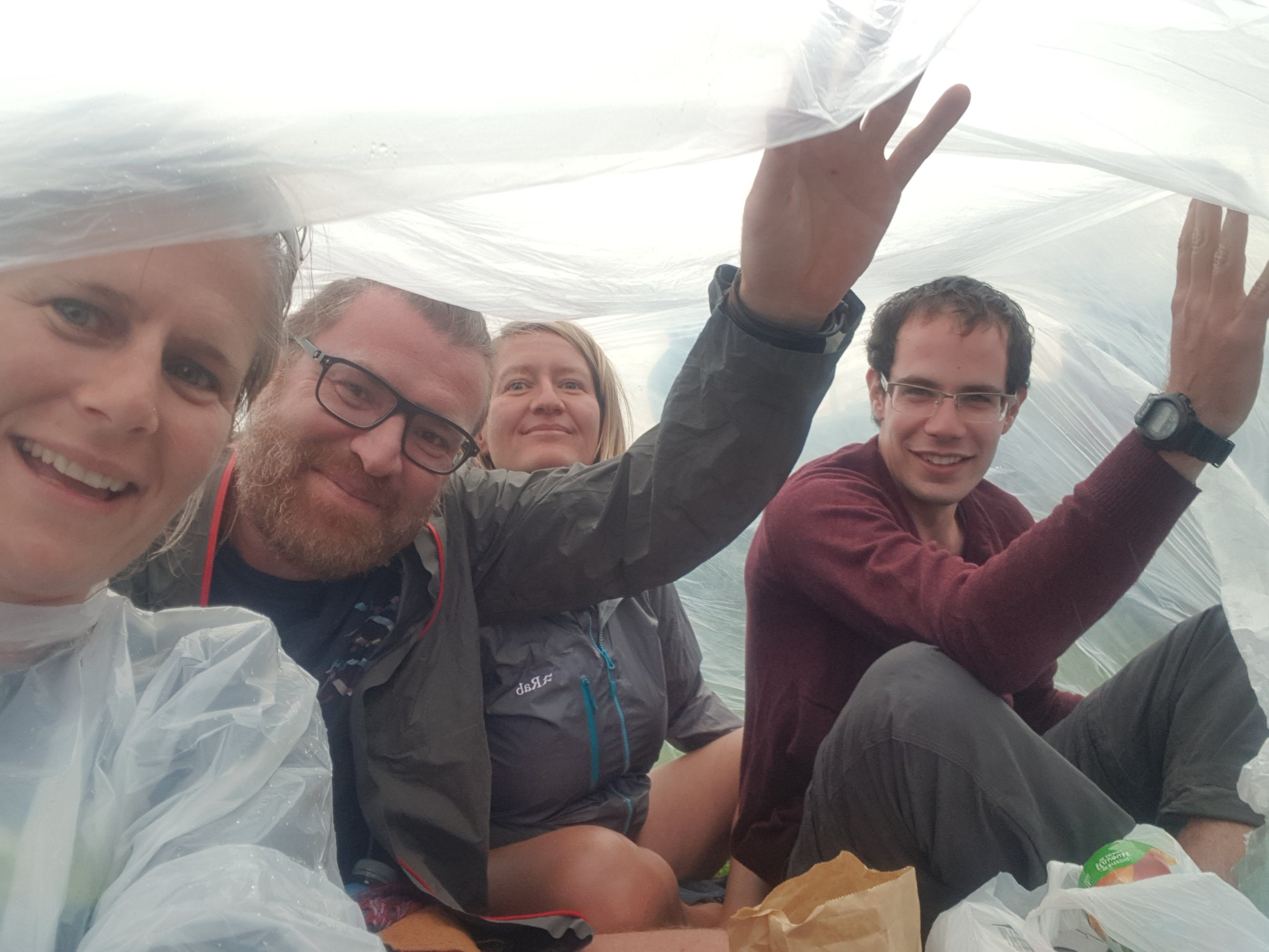 Cold and rainy at the music festival