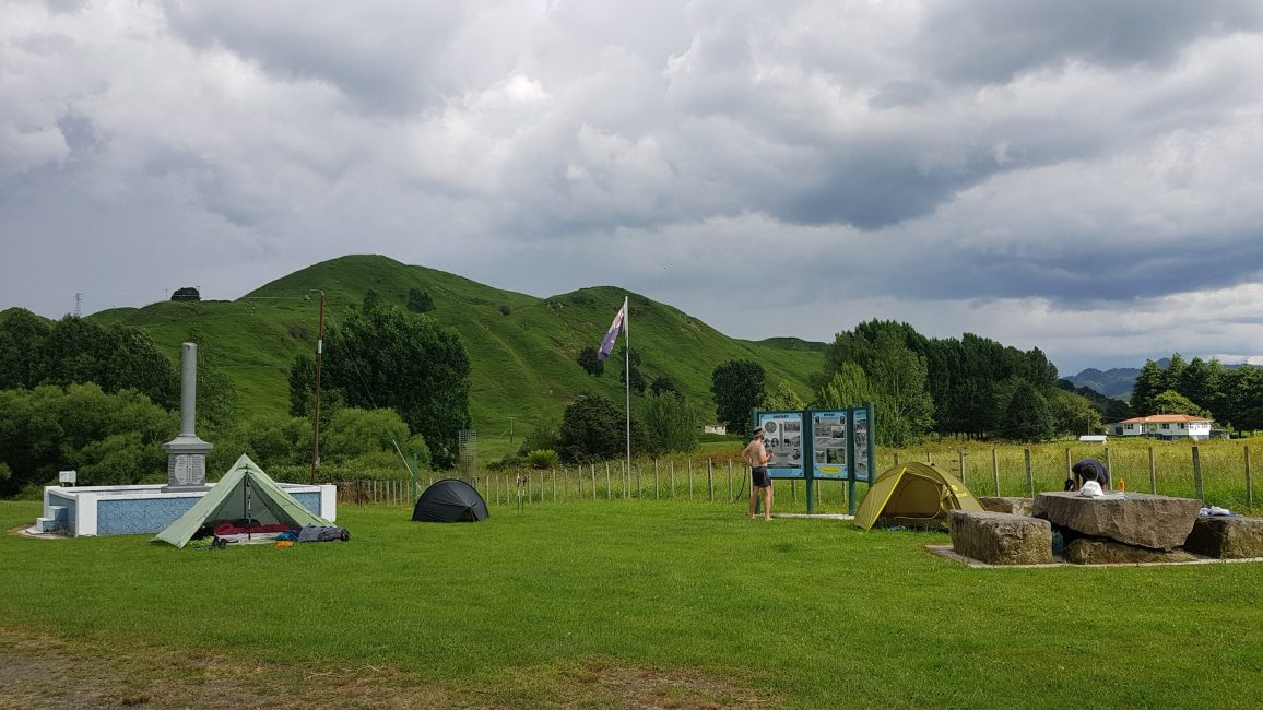 Te Araroa Trail Oio Rd Junction camp