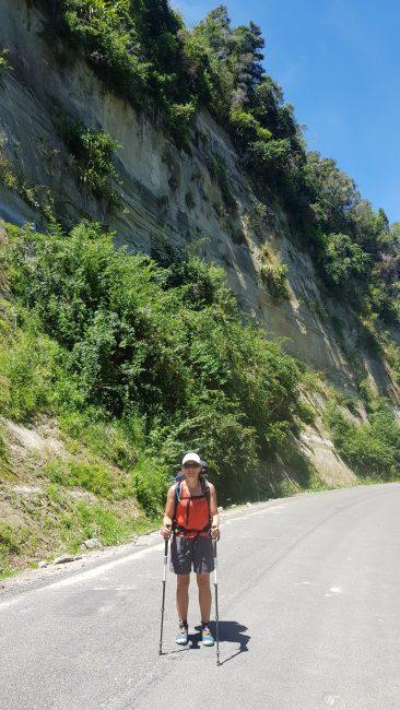 Te Araroa Trai Tinytramper on the road walk from Pipiriki to Koriniti