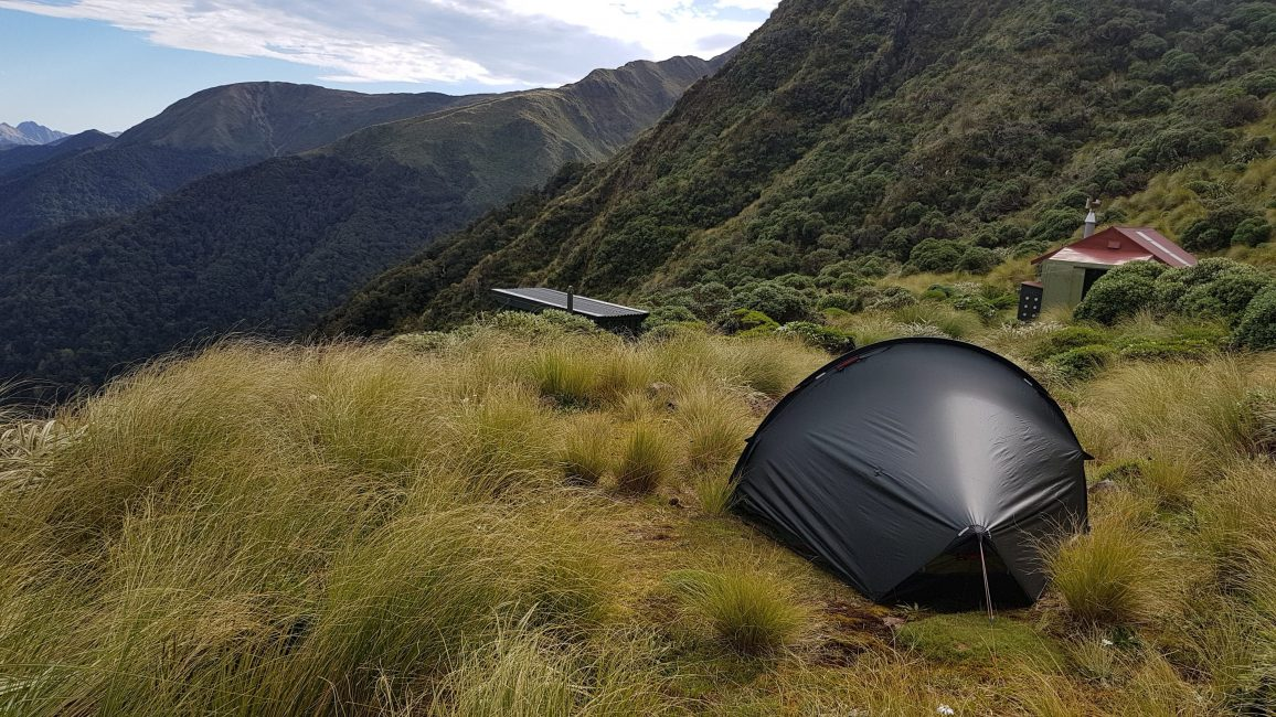 Te Araroa Trail Camping at Nichols hut