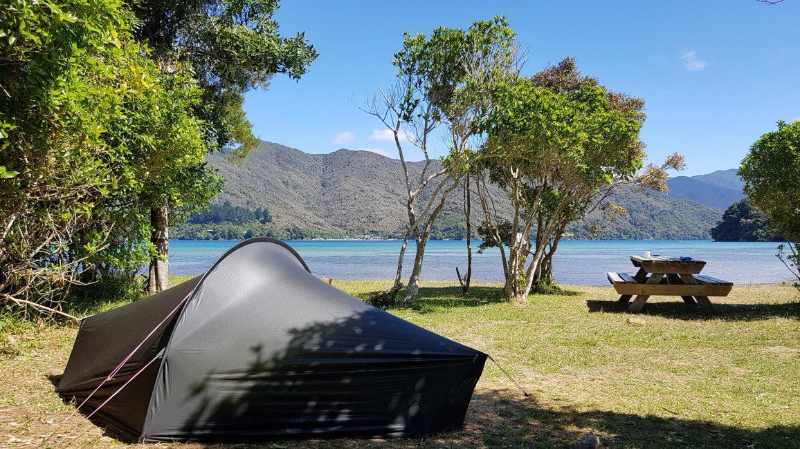 Te Araroa Trail Day 77 - Davies Bay camp