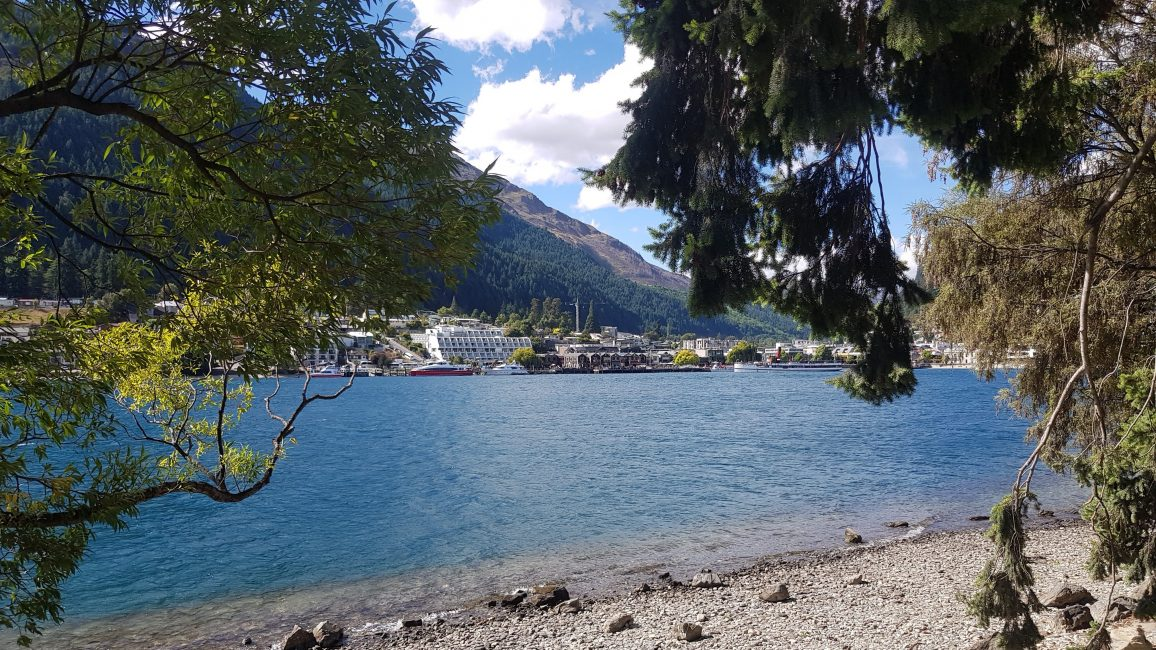 Queenstown from Lake Wakitipu