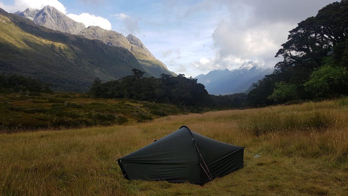 Te Araroa Trail Day 103 - Greenstone Saddle campsite 30 mins from the DOC hut