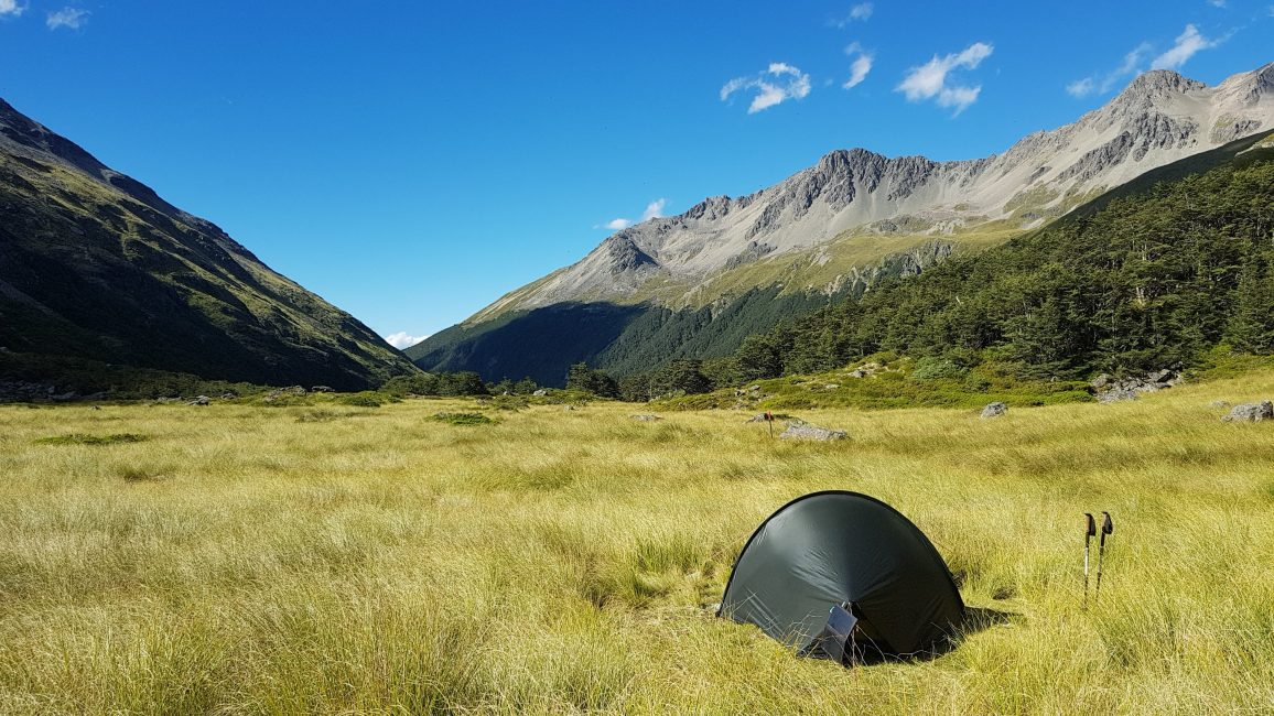 Te Araroa Trail Day 122 - Camping outside Upper Travers hut
