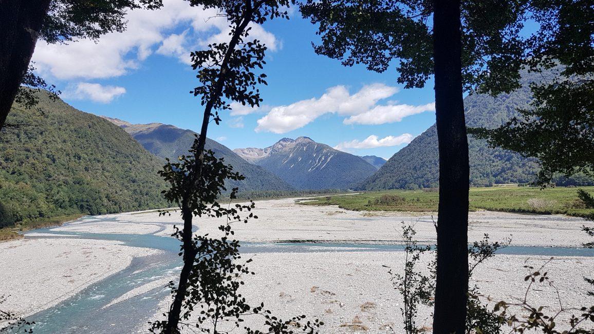 Te Araroa Trail Day 132 - Sidling above the Otira River valley