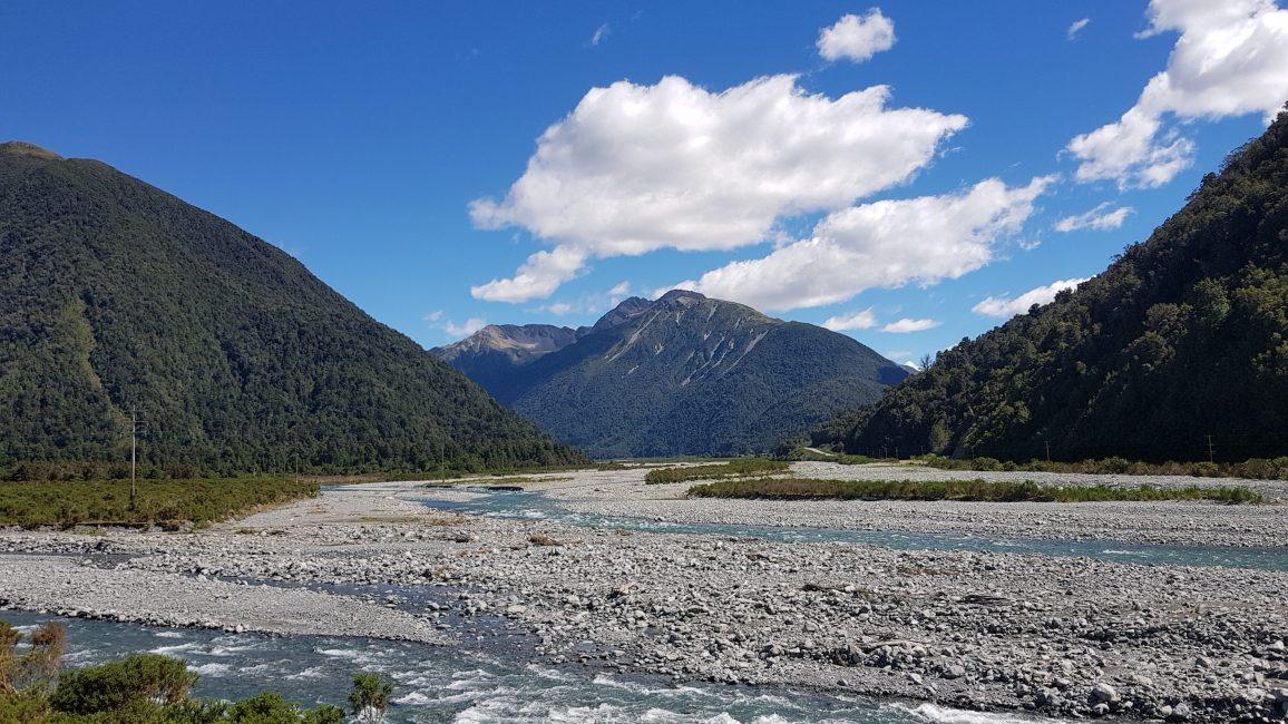 Te Araroa Trail Day 132 - Closer to Morrison's footbridge on the Otira river