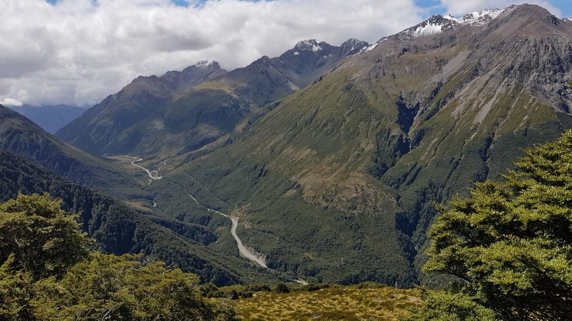 Te Araroa Trail Day 134 - The road through Arthurs Pass from Avalanche Peak