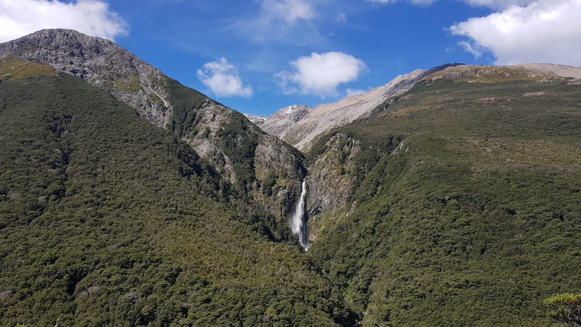 Te Araroa Trail Day 134 - The Devils Punchbowl waterfall opposite Avalanche Peak