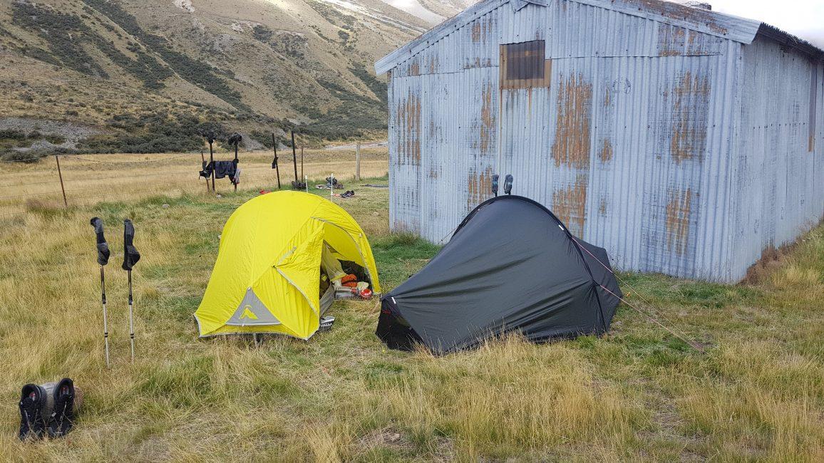 Te Araroa Trail Day 136 - Camping outside Comyns hut