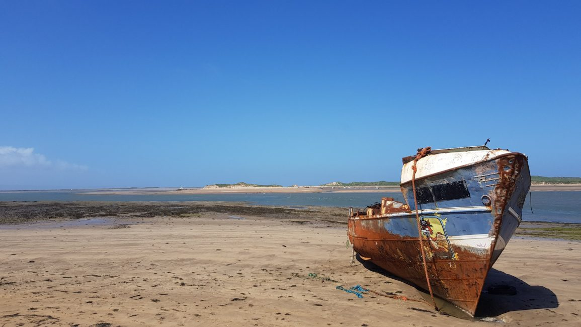 Part-ship abandoned on the estuary