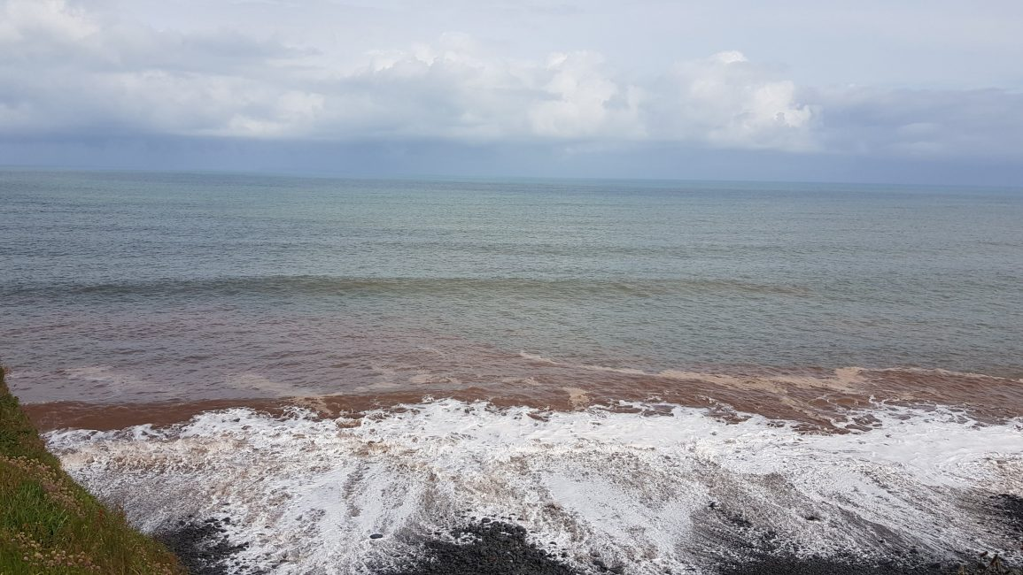 Red sea off Peppercombe