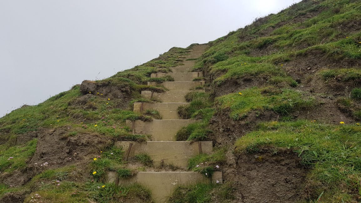 More steps up