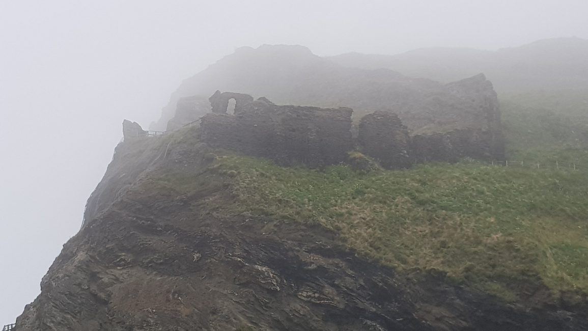 Castle ruins at Tintagel