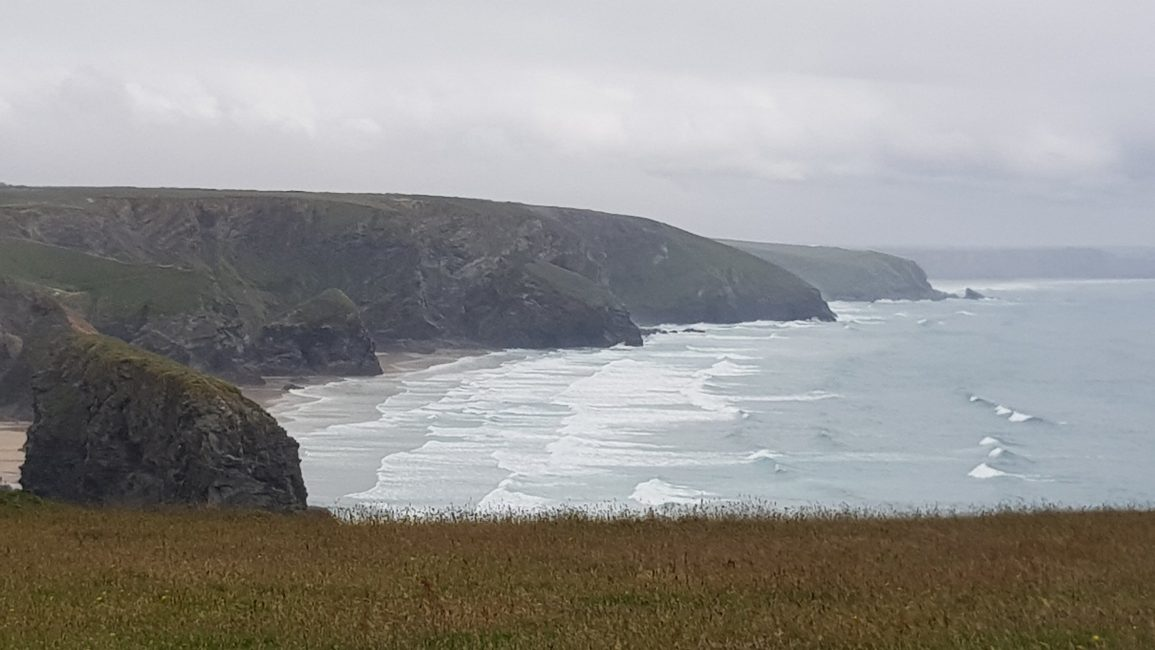 Nearing the Bedruthan Steps