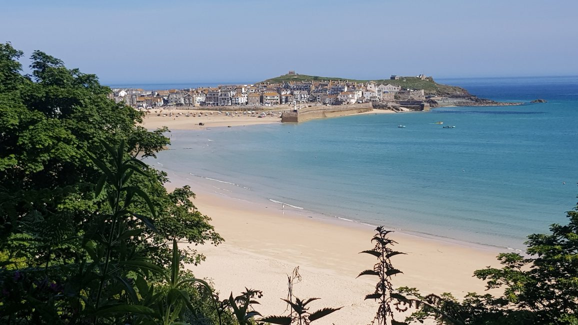 St Ives in the distance