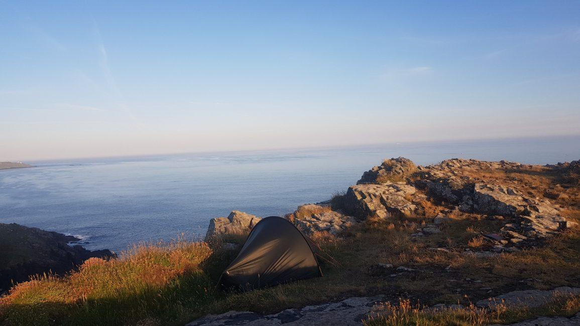 Beautiful wild camp looking towards Pendeen Watch