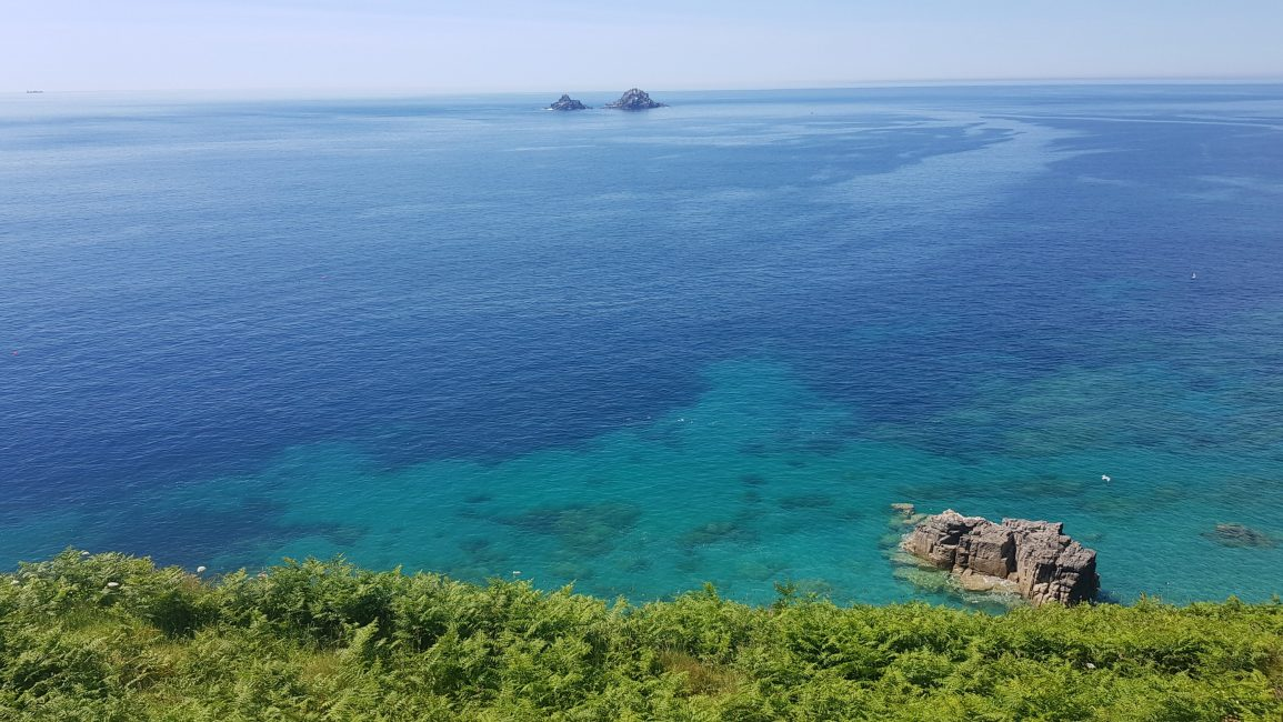Turquoise waters near Cape Cornwall