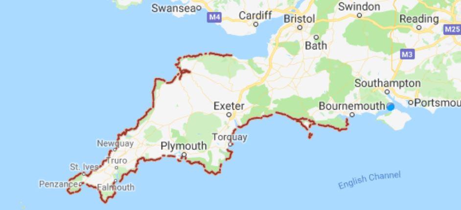 South West Coast Path Map