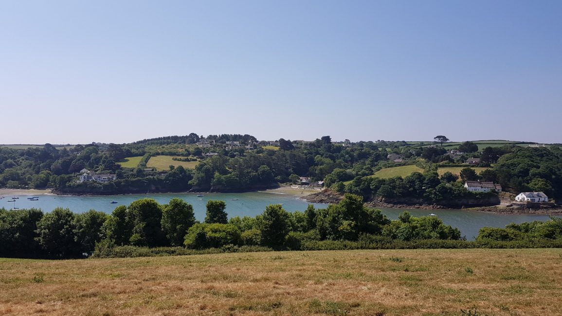 Approaching the Helford river