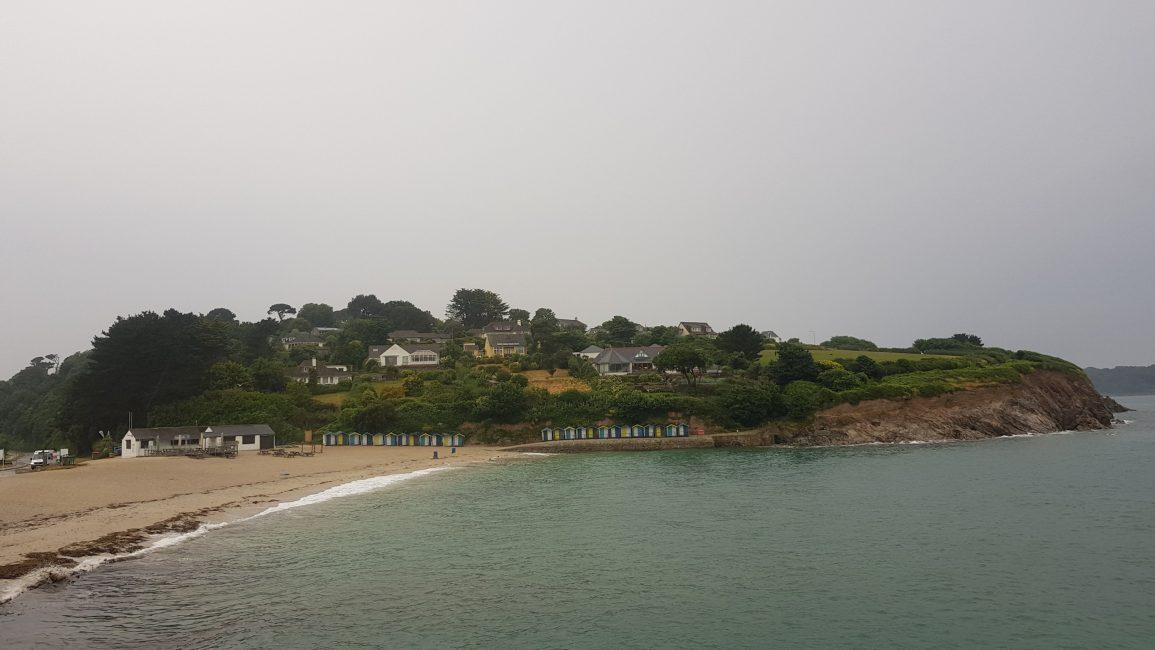 Swanpool beach on the rain