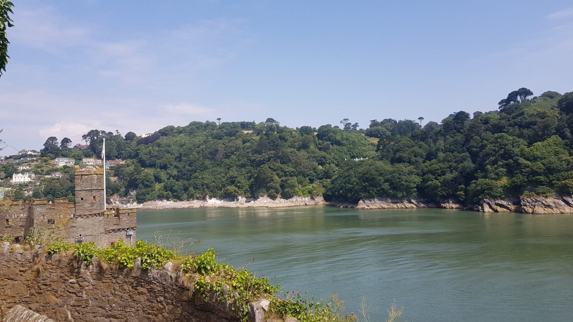 Into the river Dart and Dartmouth Castle