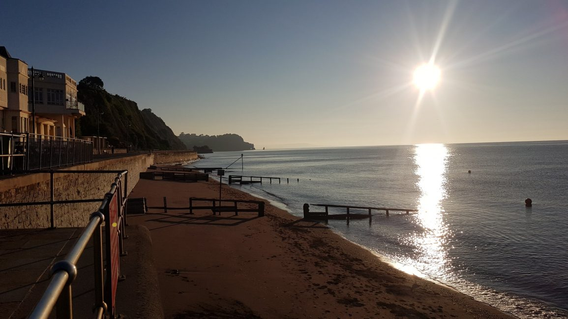 Early morning on Teignmouth seafront