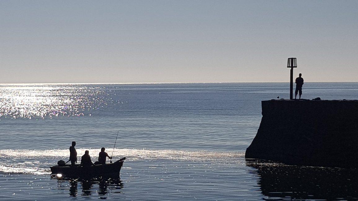 Fishermen in Dawlish