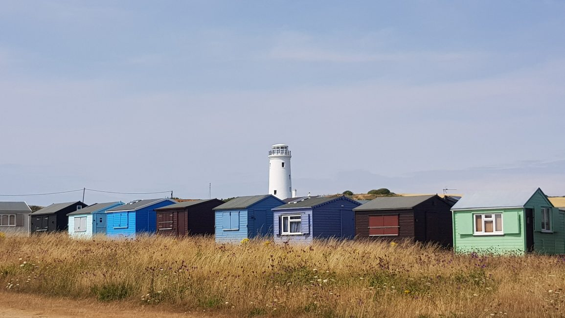 Beach huts a near Portland Bill
