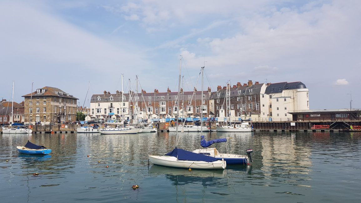 Coming into Weymouth harbour