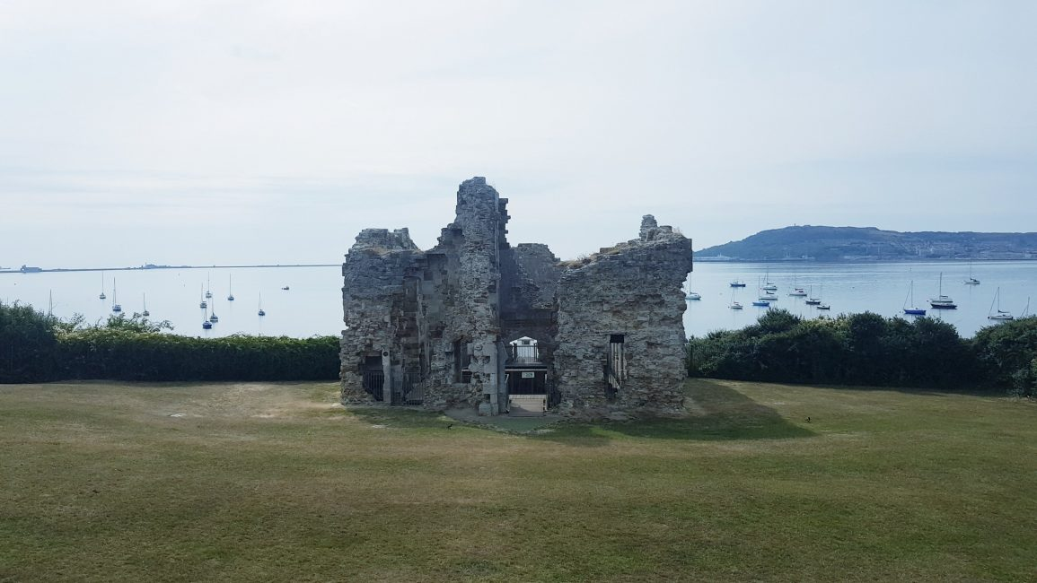 The ruins of Sandsfoot Castle