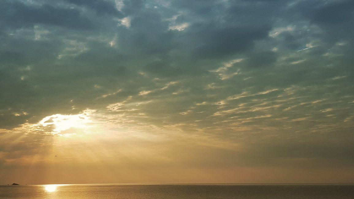 Magnificent sunrise from Slapton Sands