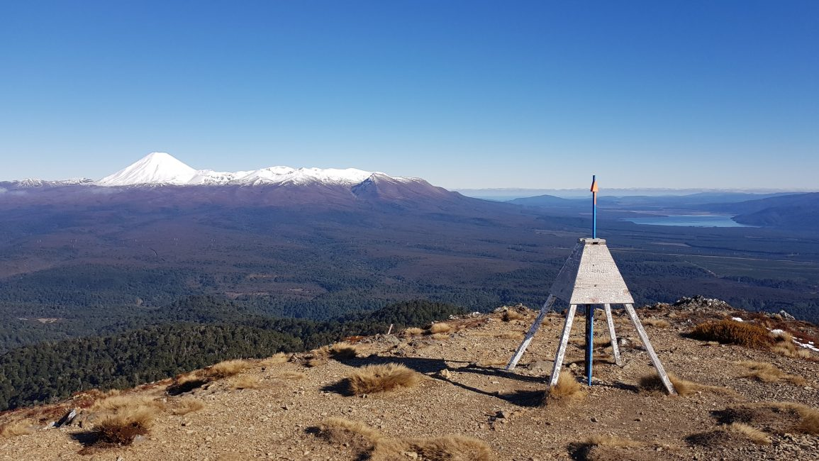 From Mount Urchin Trig West towards Ngauruhoe and Lake Rotoaira