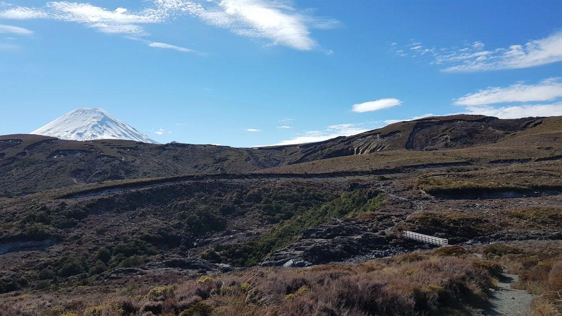 A glimpse of Mount Ngauruhoe