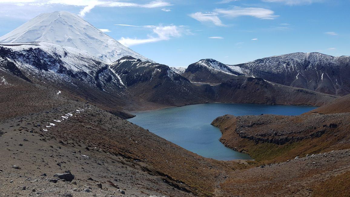 Upper Tama Lake and Mount Ngauruhoe