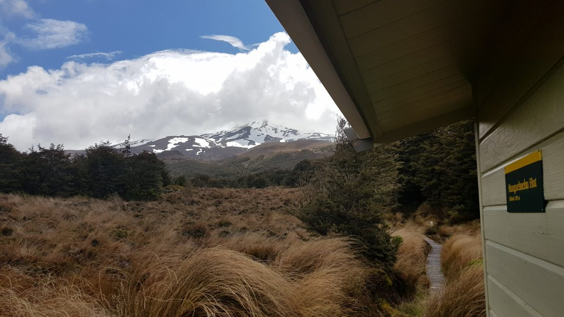 Mount Ruapehu from Mangaheuheu hut