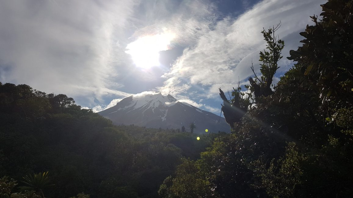 A quick glimpse of the mountain