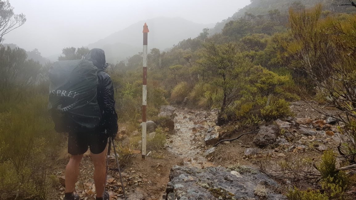 Cold and rainy over the Dun saddle
