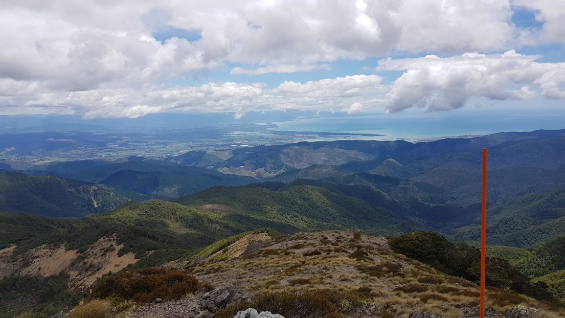From Mt Starveall looking back towards the Tasman coast