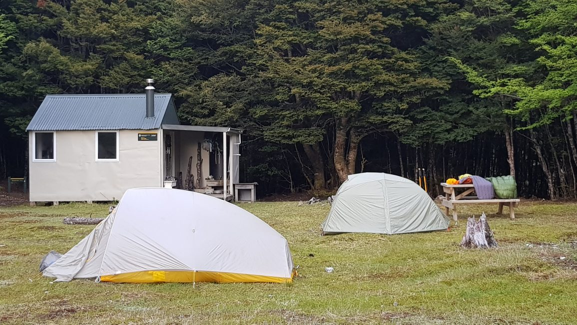Camping at Tarn hut