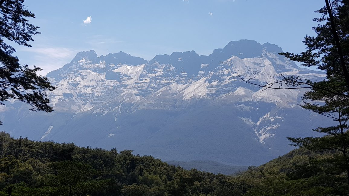 A beautiful view towards Mt Earnslaw from the Rockburn Track