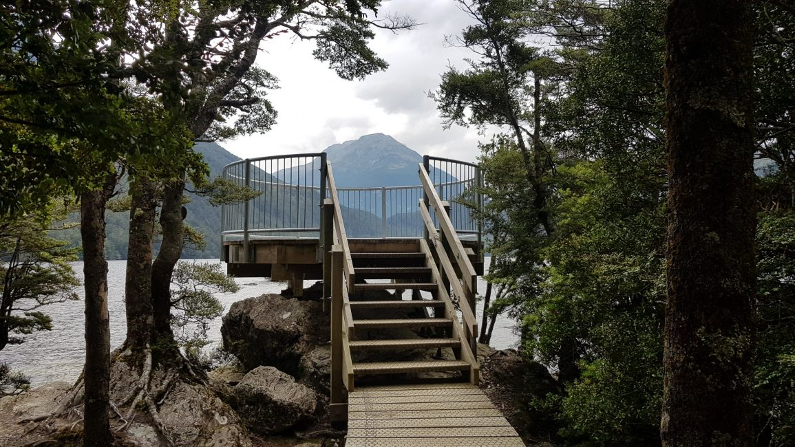 Lake Sylvan outlet and lookout