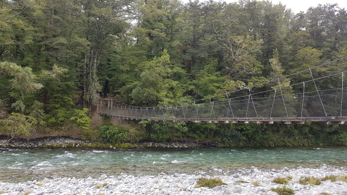 Swingbridge from Sylvan campsite to Lake Sylvan Walk