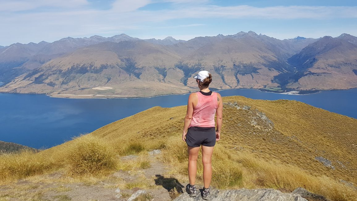 Tinytramper overlooking Lake Wanaka from Isthmus Peak
