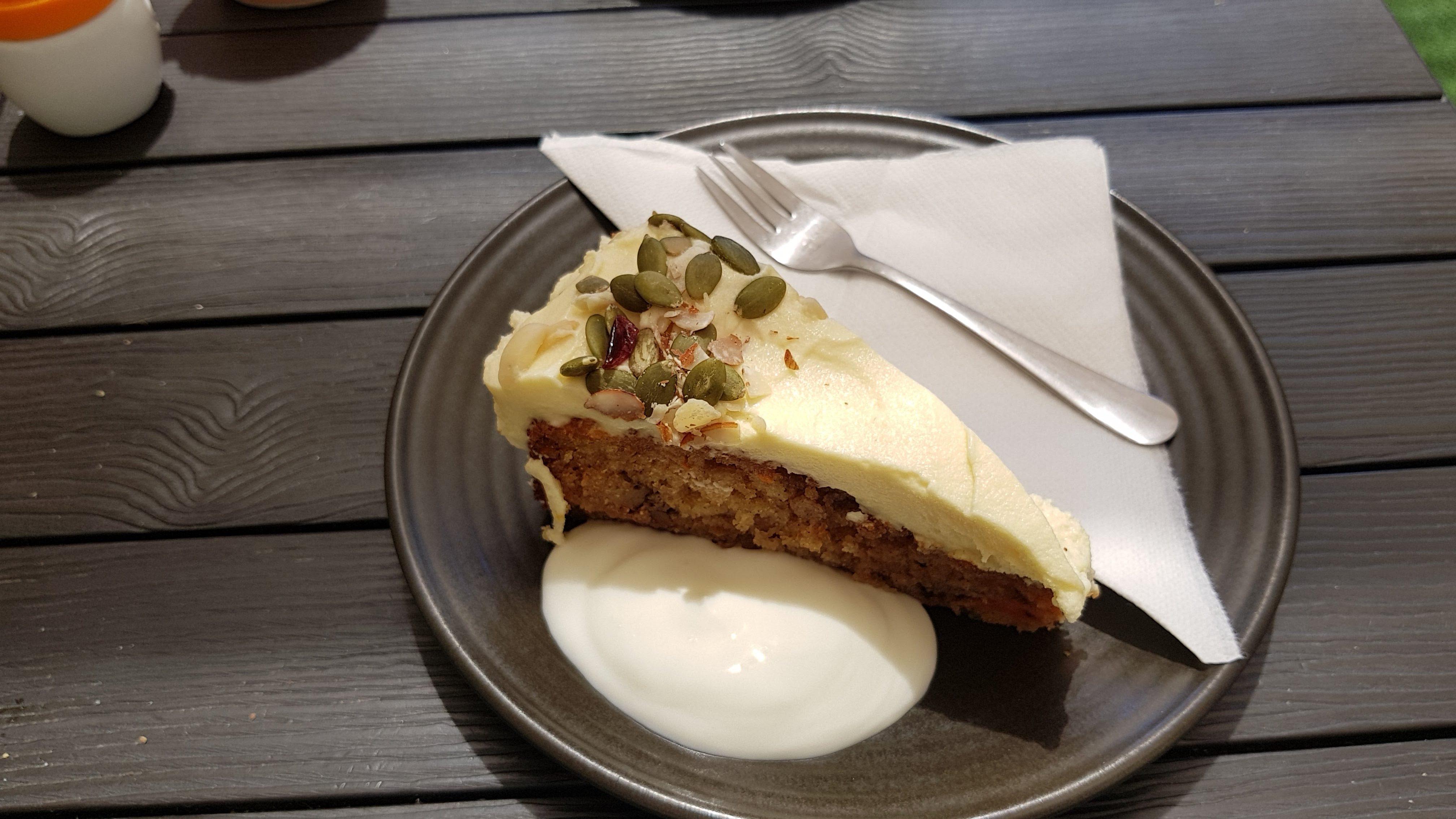 Amazing cake from Cafe Oranje Plimmerton
