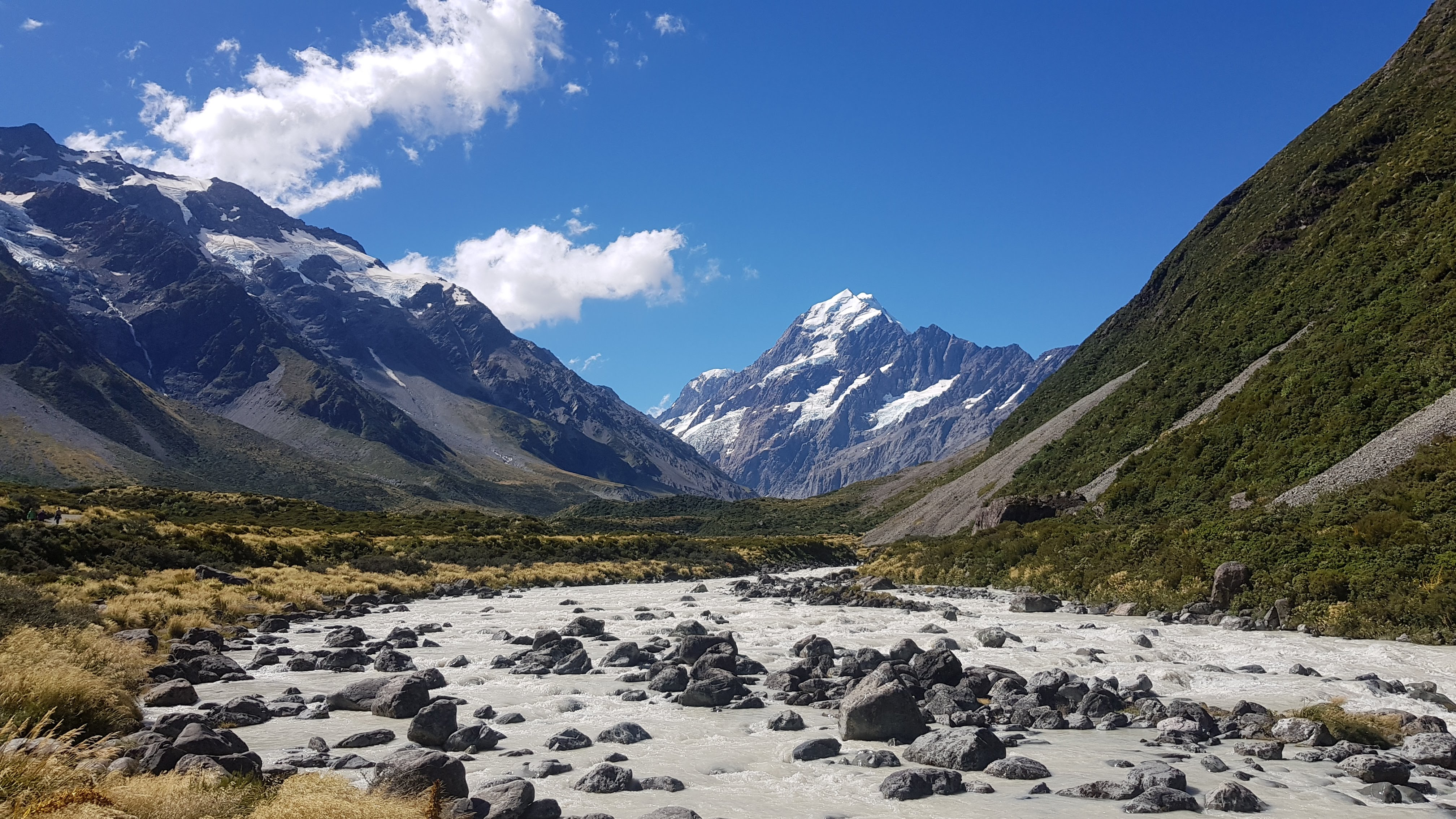 River views on the Hooker Valley Track