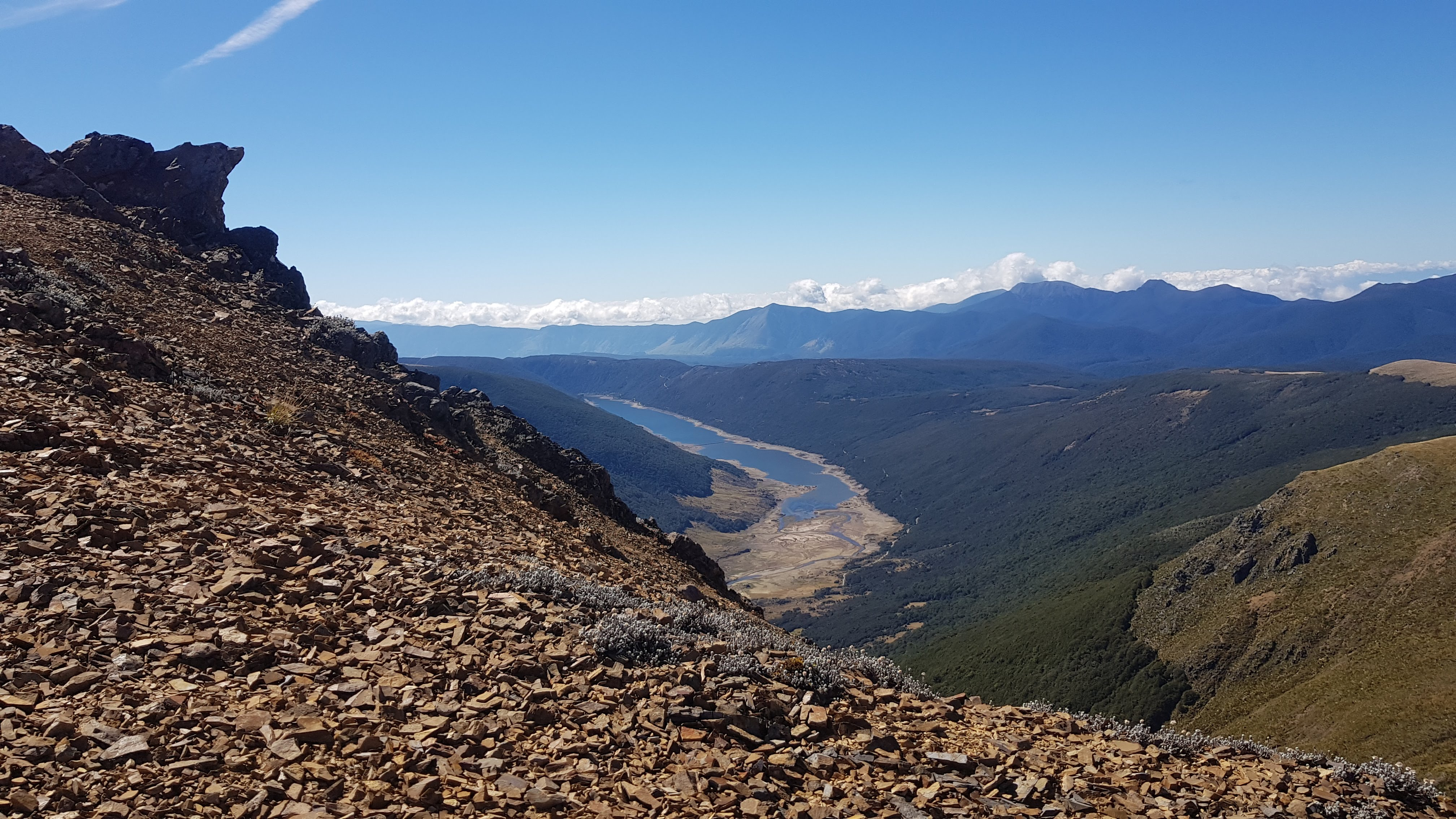 Cobb reservoir - almost on Mount Peel summit