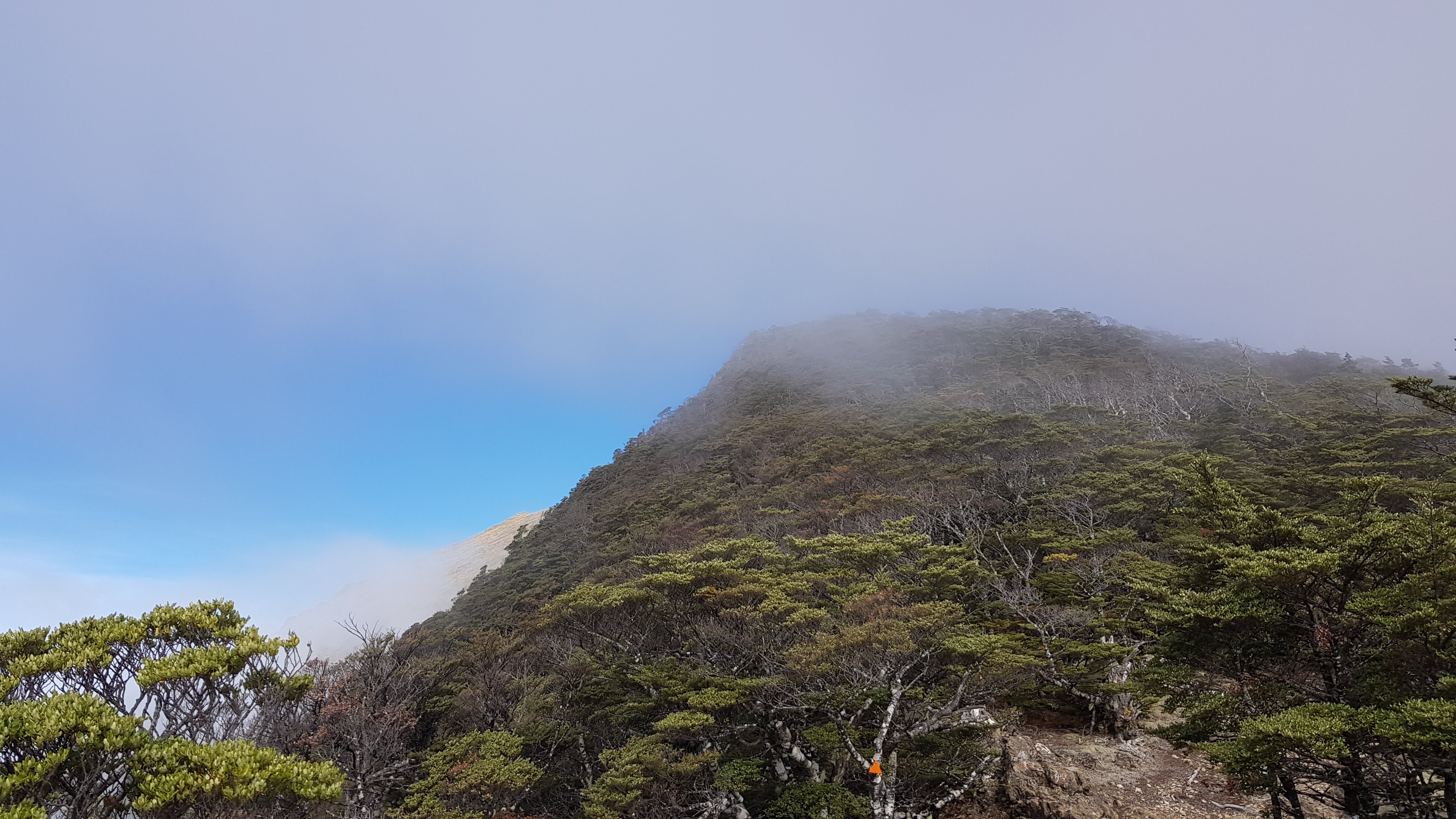 The cloud clears on the Ben Nevis track