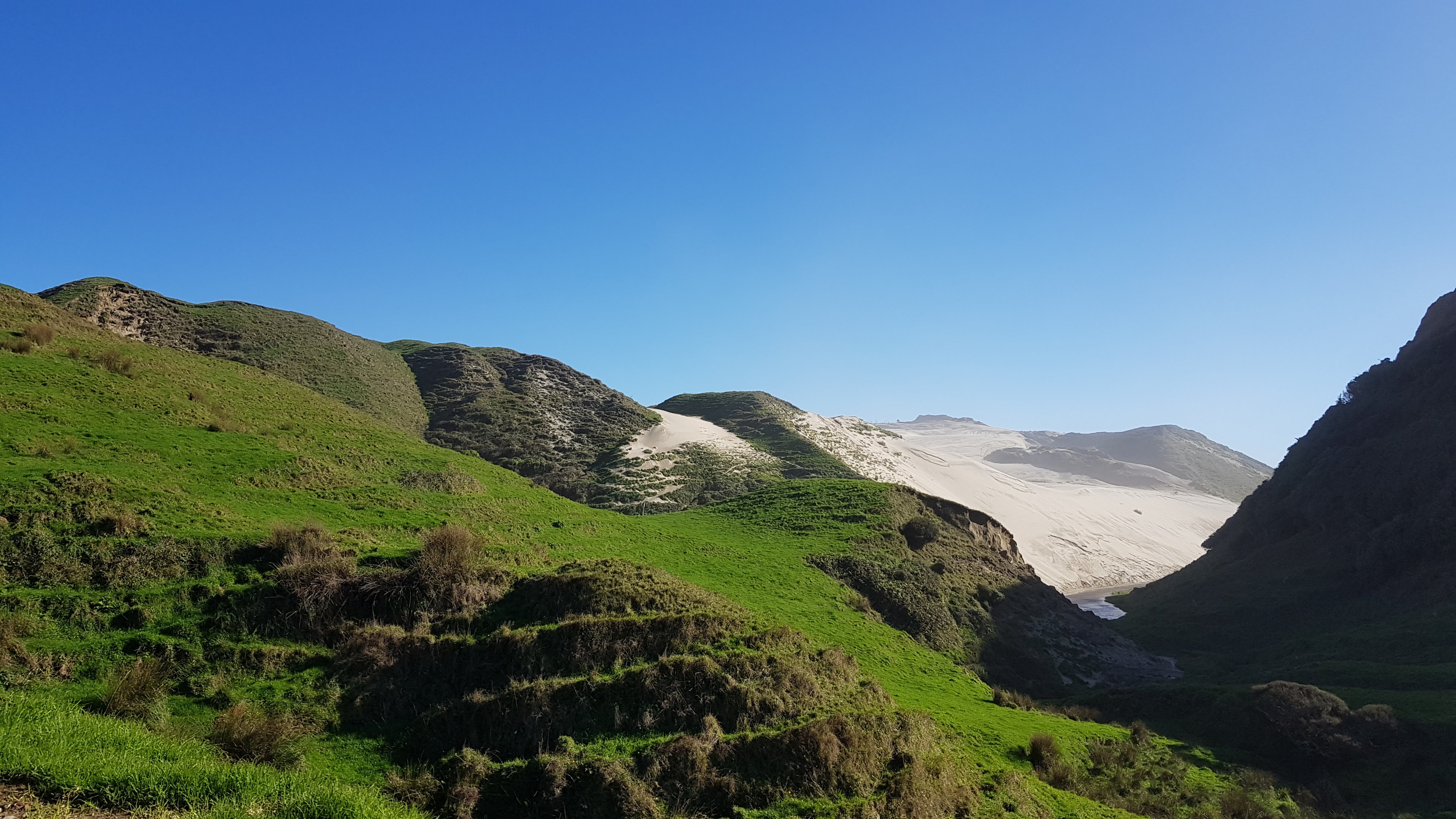 First glimpse of the enormous West coast sand dunes
