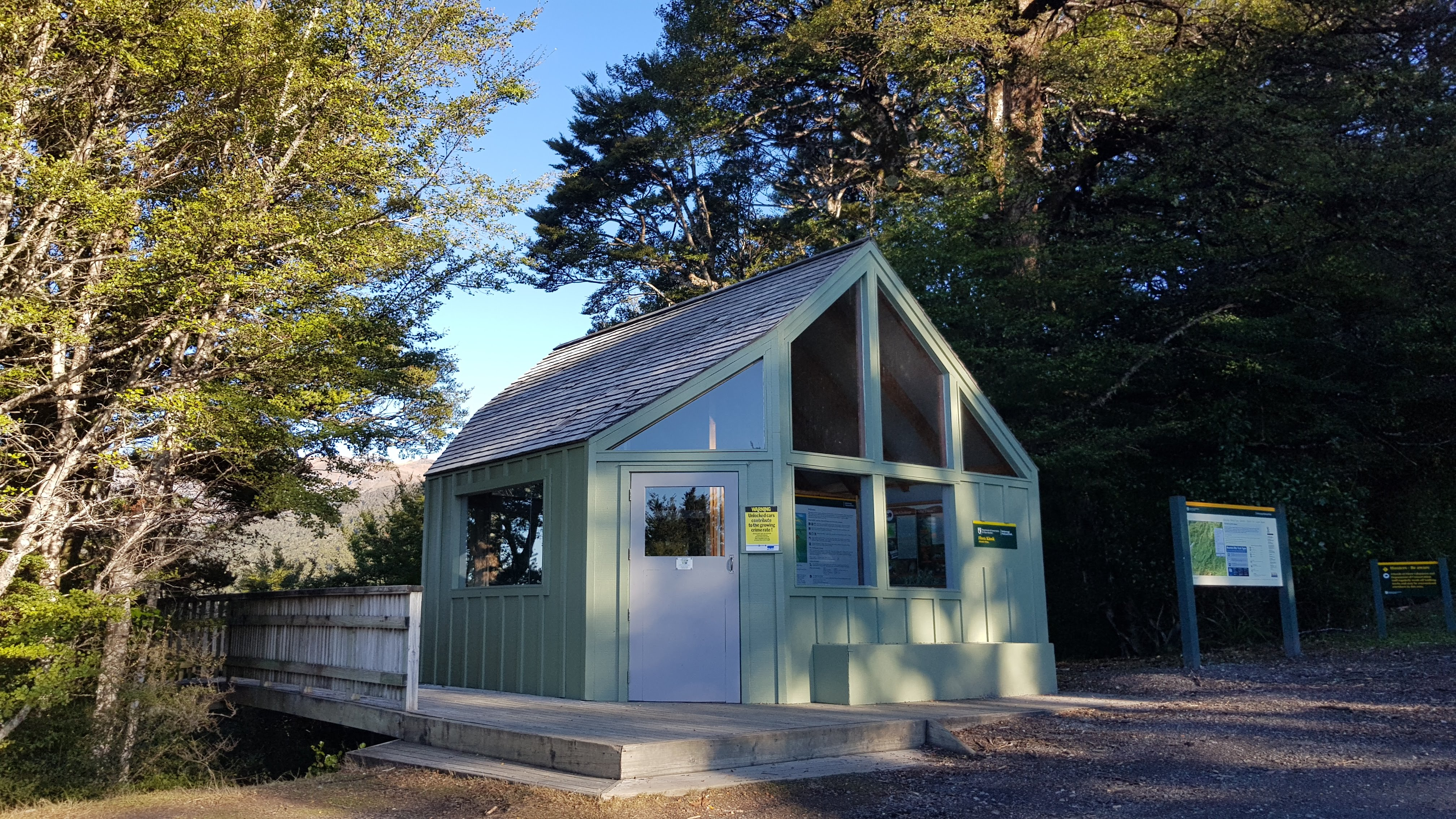 Flora car park shelter