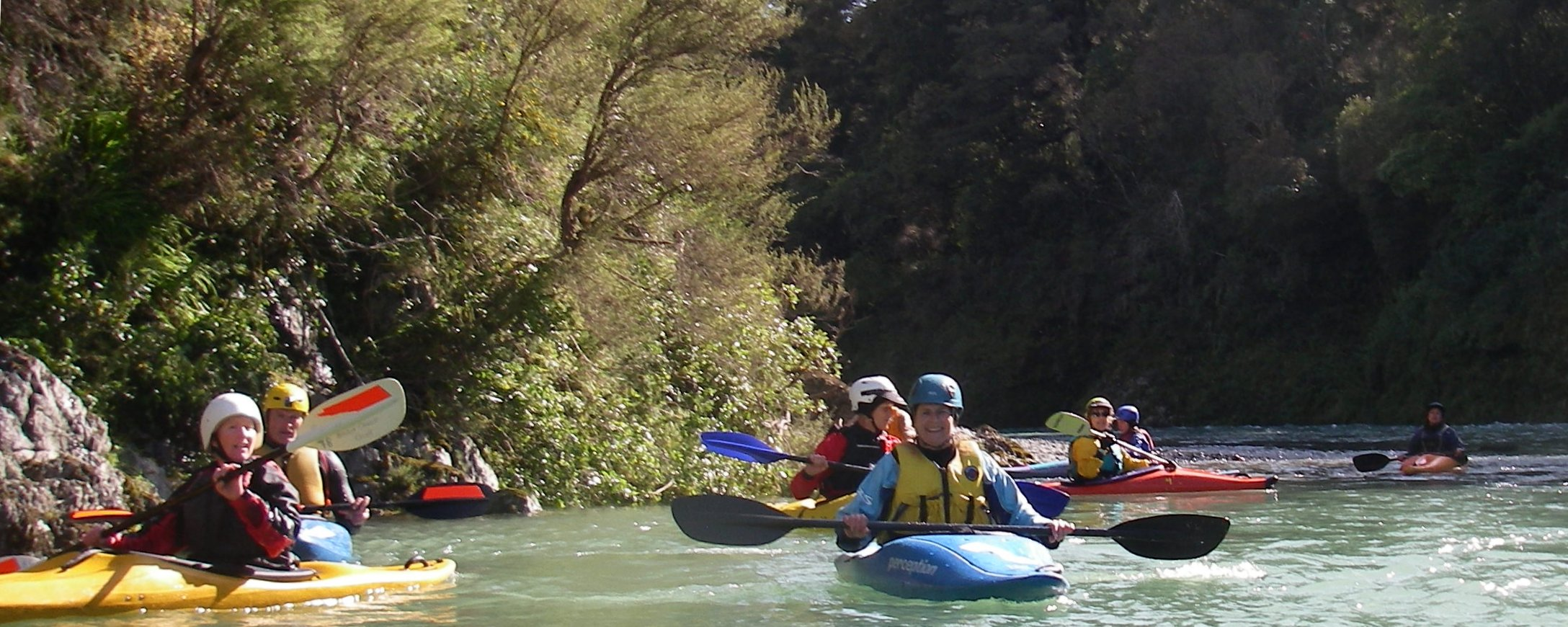 Jules Kayaking the Pelorous River